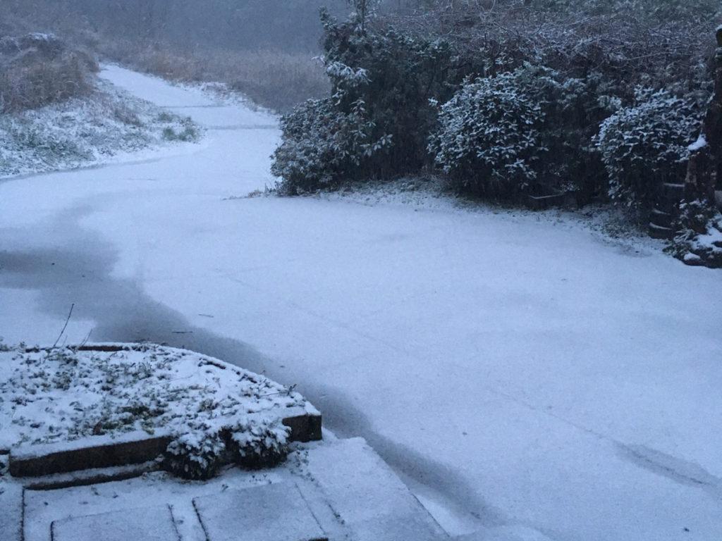 ウエストのおんな、雪の庭