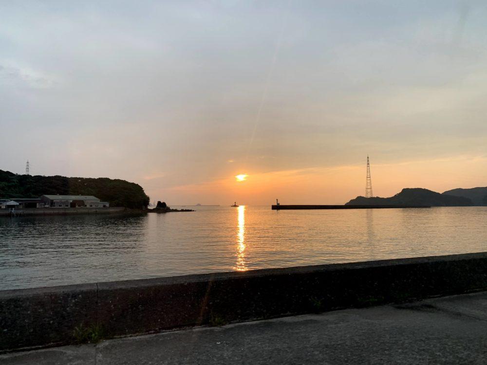 大瀬戸町の夕日